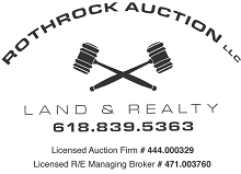 Logo and link to Rothrock Auction.